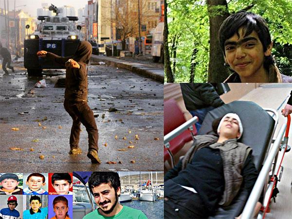 Allah'ım! Yine 14 yaşında bir çocuk, Deniz Genç, yine başından vurdular, yine polisin gaz fişeği...