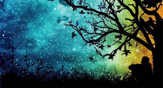 Düş ağacı altında gece