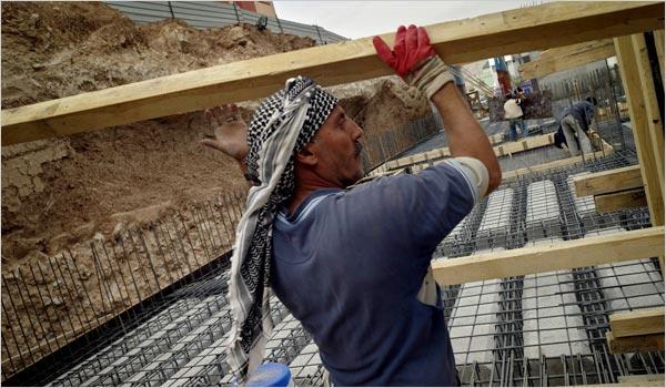 Kürdistan'da bir inşaat.