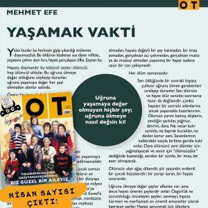 Ot Dergi, Nisan 2016 sayısında yayınlanmıştır.